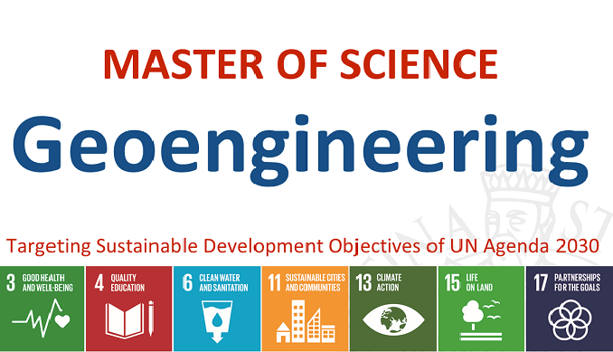 A new international MSc Program supported by the UNESCO Chair MASTER OF SCIENCE Geoengineering Targeting Sustainable Development Objectives of UN Agenda 2030 3 - good healt  4 - quality education 6 - clean water and sanitation 11 - sustainable cities and communities 13 - climate action 15 - life and land 17 - partnership for the goals School of Engineering University of Florence www.unifi.it  www.ing.gem.unifi.it